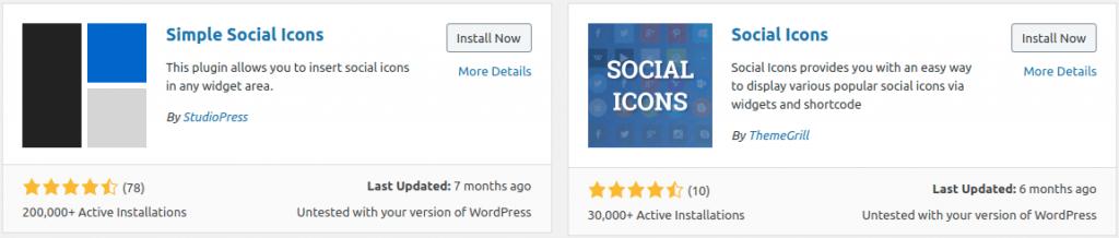 Social Media Icons Plugins
