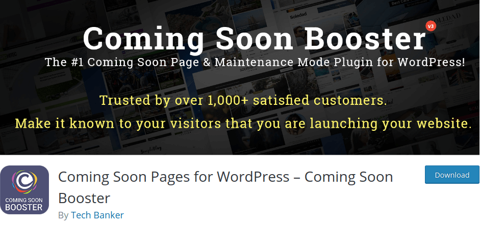 Coming Soon Pages for WordPress By Tech Banker