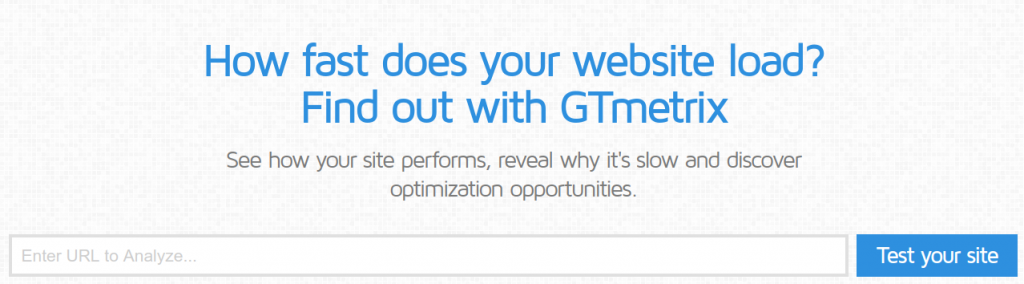GTmetrix Speed Test