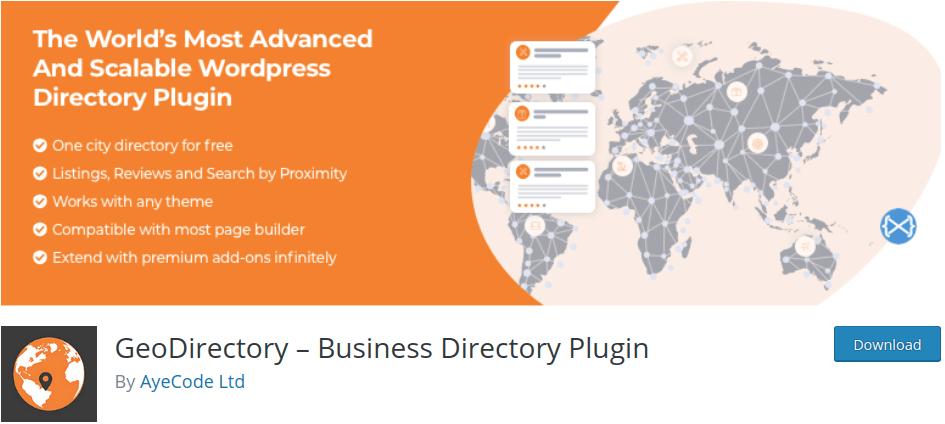 Geo Directory Plugin for WordPress