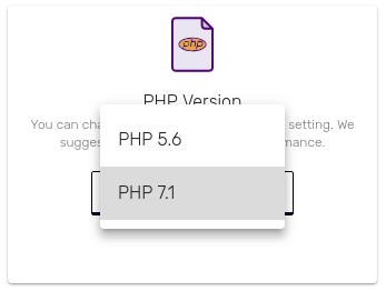 Change the PHP Version