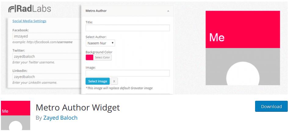 metro-author-widget