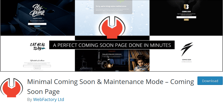 Minimal Coming Soon & Maintenance Mode by WebFactory Ltd