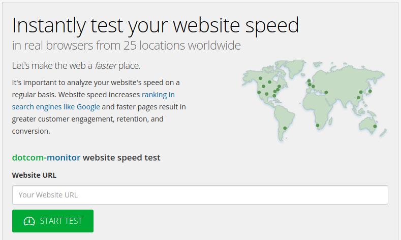 DorCom Tool for Site Speed Chekcing