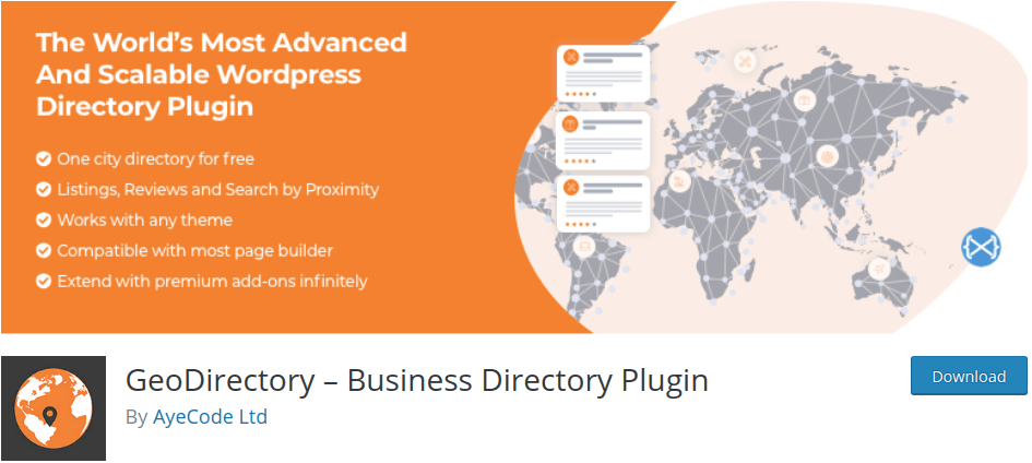 Geo Directory Plugin for WordPress