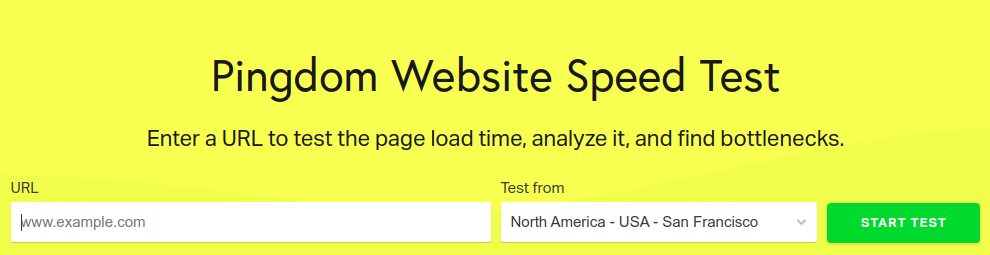 Time to First Byte test by Pingdom Tools